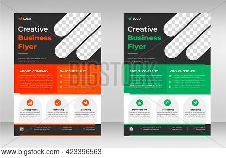 Corporate Business Flyer Template Design. Marketing, Business Proposal, Promotion, Advertise, Public