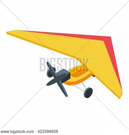 Flying Glider Icon. Isometric Of Flying Glider Vector Icon For Web Design Isolated On White Backgrou
