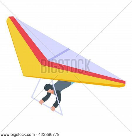 Paragliding Extreme Icon. Isometric Of Paragliding Extreme Vector Icon For Web Design Isolated On Wh