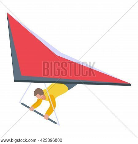 Dangerous Paraglide Icon. Isometric Of Dangerous Paraglide Vector Icon For Web Design Isolated On Wh