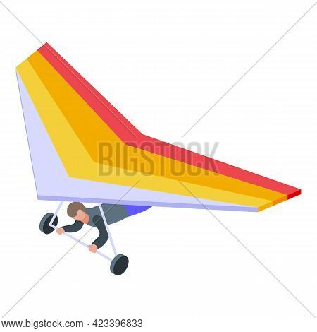 Sports Paraglider Icon. Isometric Of Sports Paraglider Vector Icon For Web Design Isolated On White