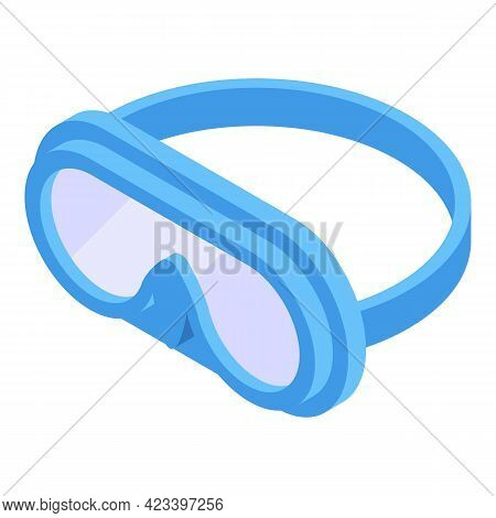 Swimming Goggles Icon. Isometric Of Swimming Goggles Vector Icon For Web Design Isolated On White Ba