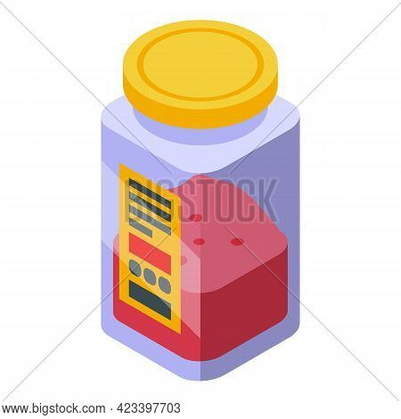 Paprika Icon. Isometric Of Paprika Vector Icon For Web Design Isolated On White Background