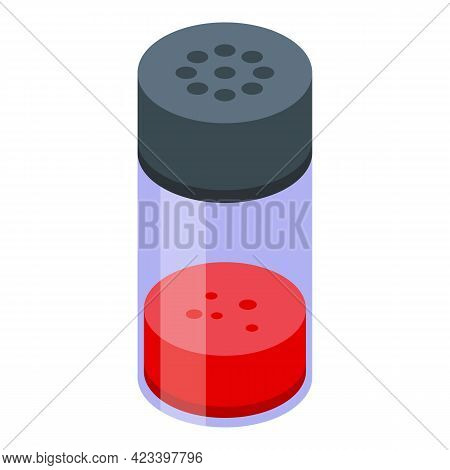 Dried Red Paprika Icon. Isometric Of Dried Red Paprika Vector Icon For Web Design Isolated On White
