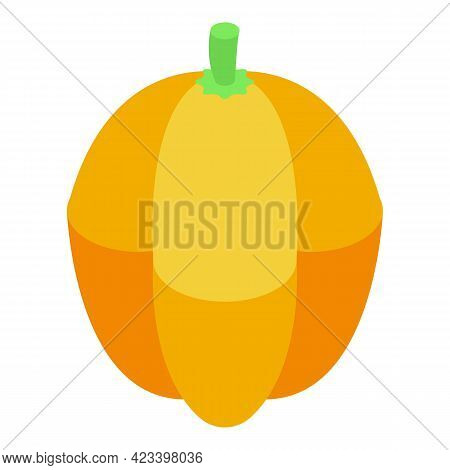 Yellow Sweet Paprika Icon. Isometric Of Yellow Sweet Paprika Vector Icon For Web Design Isolated On