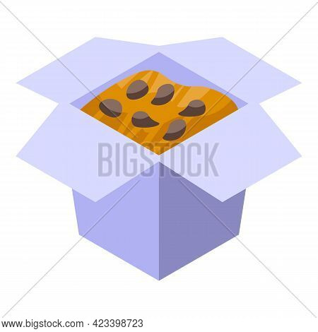 Korean Food Box Icon. Isometric Of Korean Food Box Vector Icon For Web Design Isolated On White Back