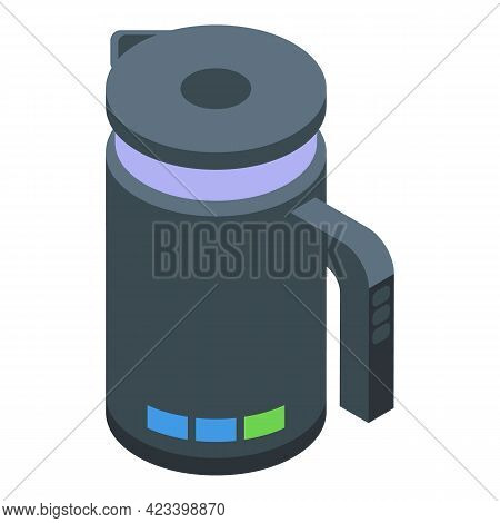 Electric Kettle Icon. Isometric Of Electric Kettle Vector Icon For Web Design Isolated On White Back