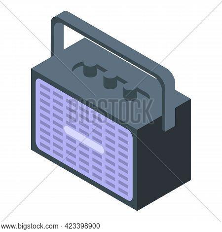 Radio Icon. Isometric Of Radio Vector Icon For Web Design Isolated On White Background