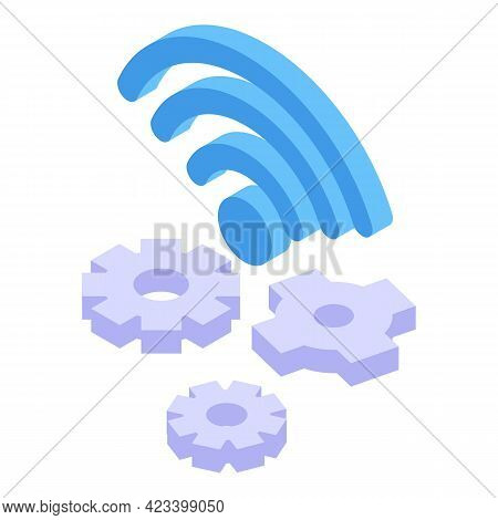 Wi Fi Icon. Isometric Of Wi Fi Vector Icon For Web Design Isolated On White Background