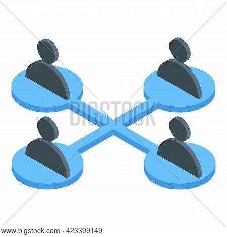 Human Resources Scheme Icon. Isometric Of Human Resources Scheme Vector Icon For Web Design Isolated