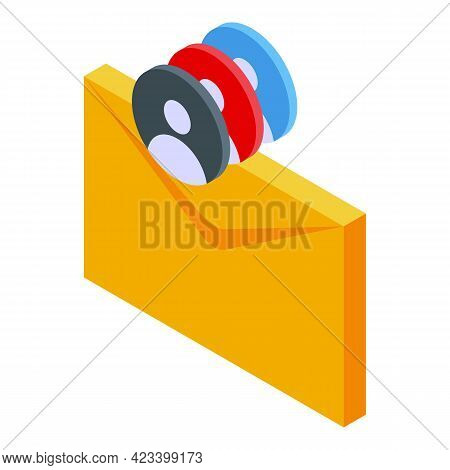 Human Resources Mail Icon. Isometric Of Human Resources Mail Vector Icon For Web Design Isolated On