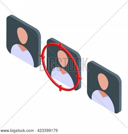 Human Resources Target Icon. Isometric Of Human Resources Target Vector Icon For Web Design Isolated