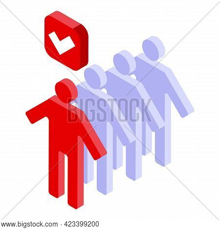 Human Resources Mentor Icon. Isometric Of Human Resources Mentor Vector Icon For Web Design Isolated