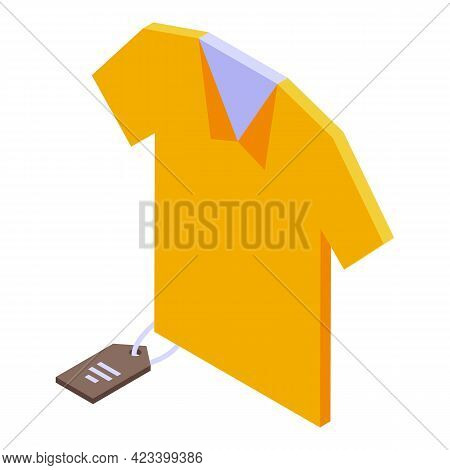 Shirt Payment Cancellation Icon. Isometric Of Shirt Payment Cancellation Vector Icon For Web Design