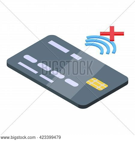 Credit Card Payment Cancellation Icon. Isometric Of Credit Card Payment Cancellation Vector Icon For