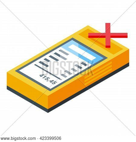Terminal Cancel Payment Icon. Isometric Of Terminal Cancel Payment Vector Icon For Web Design Isolat