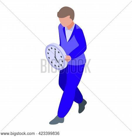 Time Rush Job Icon. Isometric Of Time Rush Job Vector Icon For Web Design Isolated On White Backgrou