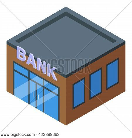 Bank Result Money Icon. Isometric Of Bank Result Money Vector Icon For Web Design Isolated On White
