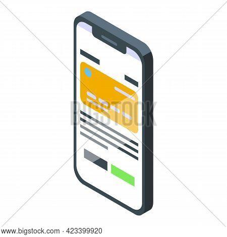 Smartphone Result Money Icon. Isometric Of Smartphone Result Money Vector Icon For Web Design Isolat