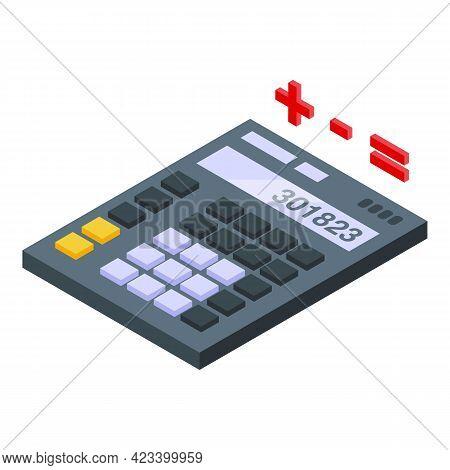 Calculator Result Money Icon. Isometric Of Calculator Result Money Vector Icon For Web Design Isolat