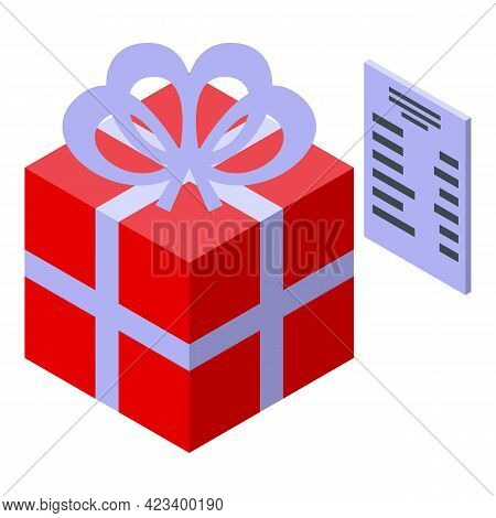 Gift Box Consumer Rights Icon. Isometric Of Gift Box Consumer Rights Vector Icon For Web Design Isol