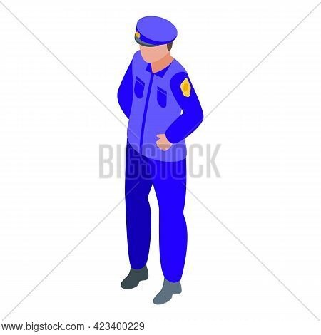 Policeman Consumer Rights Icon. Isometric Of Policeman Consumer Rights Vector Icon For Web Design Is