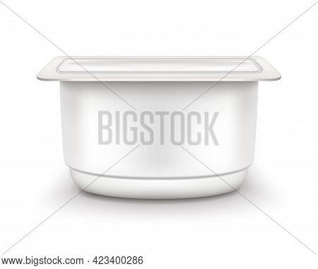 Yogurt Packaging Side View Vector Eps Realistic 2