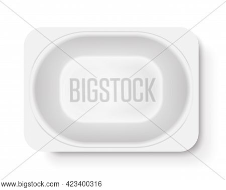 Yogurt Packaging Top View Vector Eps Realistic 2
