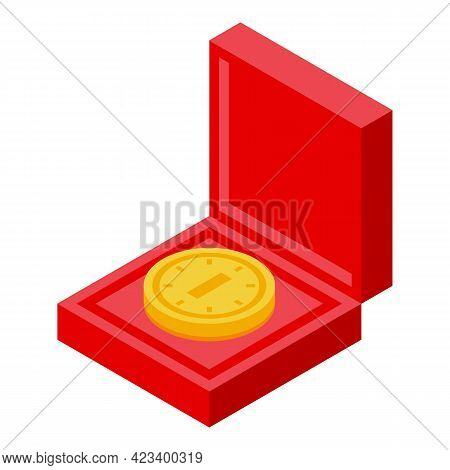 Education Workflow Coin Icon. Isometric Of Education Workflow Coin Vector Icon For Web Design Isolat