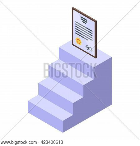 Education Workflow Diploma Icon. Isometric Of Education Workflow Diploma Vector Icon For Web Design