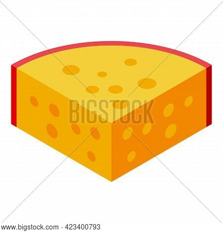 Cheese Protein Icon. Isometric Of Cheese Protein Vector Icon For Web Design Isolated On White Backgr