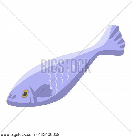 Fish Protein Icon. Isometric Of Fish Protein Vector Icon For Web Design Isolated On White Background