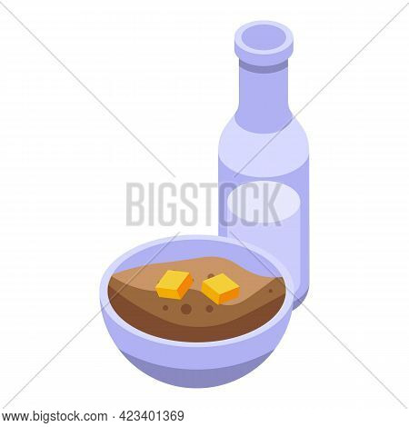 Fitness Blog Food Icon. Isometric Of Fitness Blog Food Vector Icon For Web Design Isolated On White