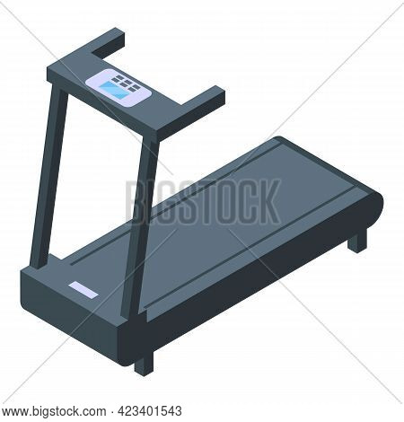 Fitness Treadmill Icon. Isometric Of Fitness Treadmill Vector Icon For Web Design Isolated On White