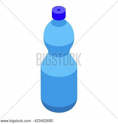 Mineral Water Bottle Icon. Isometric Of Mineral Water Bottle Vector Icon For Web Design Isolated On
