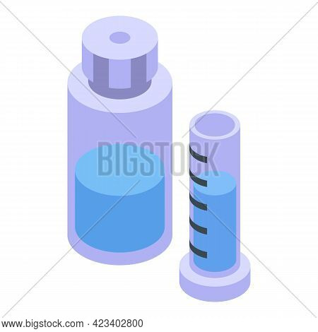 Water Purification Test Tube Icon. Isometric Of Water Purification Test Tube Vector Icon For Web Des
