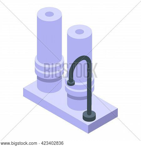 Water Tap Purification Icon. Isometric Of Water Tap Purification Vector Icon For Web Design Isolated