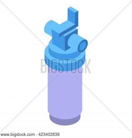 Water Purification Cylinder Icon. Isometric Of Water Purification Cylinder Vector Icon For Web Desig