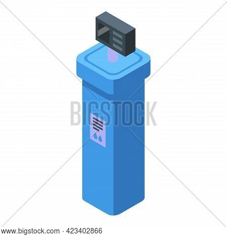 Water Purification Wall Icon. Isometric Of Water Purification Wall Vector Icon For Web Design Isolat