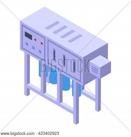 Water Purification Industry Icon. Isometric Of Water Purification Industry Vector Icon For Web Desig