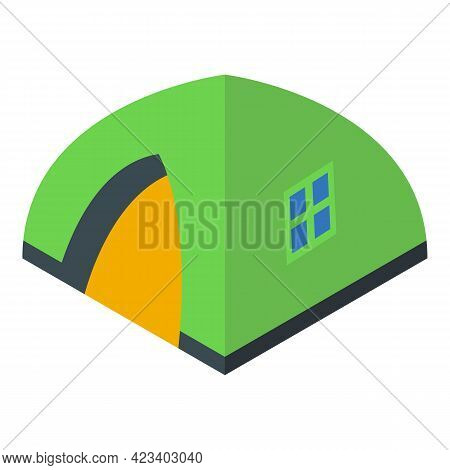 Hike Tent Icon. Isometric Of Hike Tent Vector Icon For Web Design Isolated On White Background
