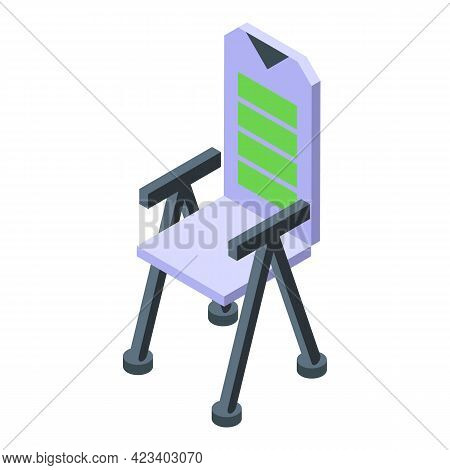 Hike Chair Icon. Isometric Of Hike Chair Vector Icon For Web Design Isolated On White Background