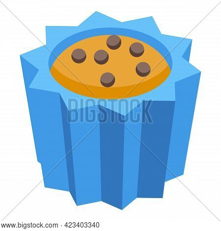 Dessert Muffin Icon. Isometric Of Dessert Muffin Vector Icon For Web Design Isolated On White Backgr