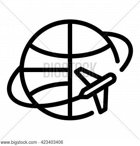 International Jet Lag Icon. Outline International Jet Lag Vector Icon For Web Design Isolated On Whi