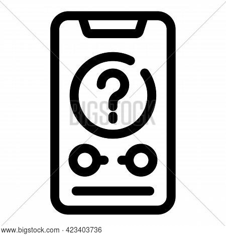 Anonymous Smartphone Icon. Outline Anonymous Smartphone Vector Icon For Web Design Isolated On White