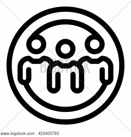 Anonymous Group Icon. Outline Anonymous Group Vector Icon For Web Design Isolated On White Backgroun