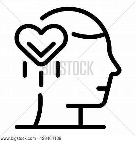 Person Trust Relationship Icon. Outline Person Trust Relationship Vector Icon For Web Design Isolate