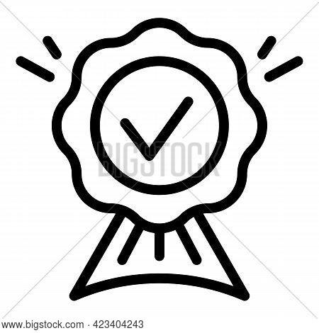 Emblem Trust Relationship Icon. Outline Emblem Trust Relationship Vector Icon For Web Design Isolate