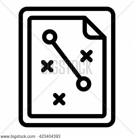 Tactical Clipboard Icon. Outline Tactical Clipboard Vector Icon For Web Design Isolated On White Bac