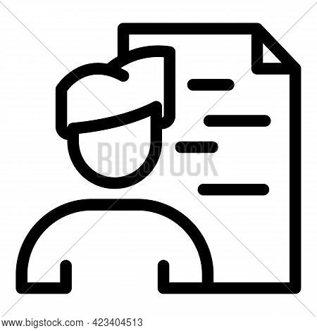 Colleague Cv Icon. Outline Colleague Cv Vector Icon For Web Design Isolated On White Background